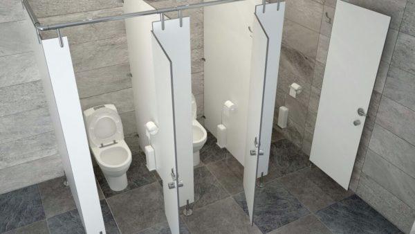 Сантехнические перегородки для общественных туалетов из ДСП